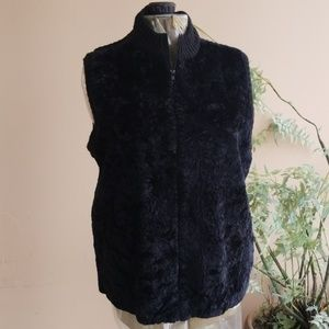 Plus Size Faux Fur Vest